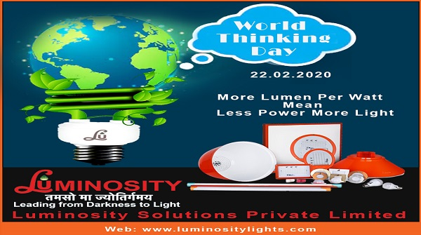 """""""If you have the power to think then you have the power to solve problems, power to bring the change and power to be the change.""""  Call us : 011-26342933, +91-9355013120  #InOurHands #WorldThinkingDay #LuminositySolutions #ledlights #leduncle #WTD2020pic.twitter.com/Vdf2w0MAVV"""
