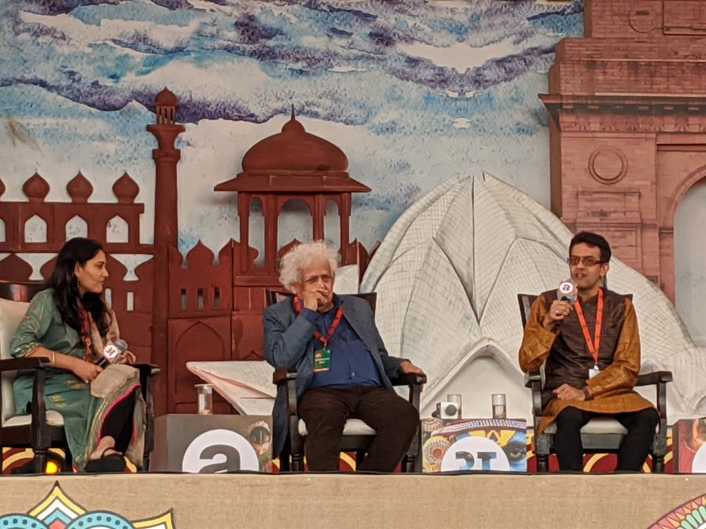 Savarkar was made into a persona non grata; legends like Mangeshkar were vilified for singing his poems. This nation needs to know, that we got freedom principally because of Naval mutiny and not because we marched to make a handful of salt, thunders @vikramsampath at @arth_live.