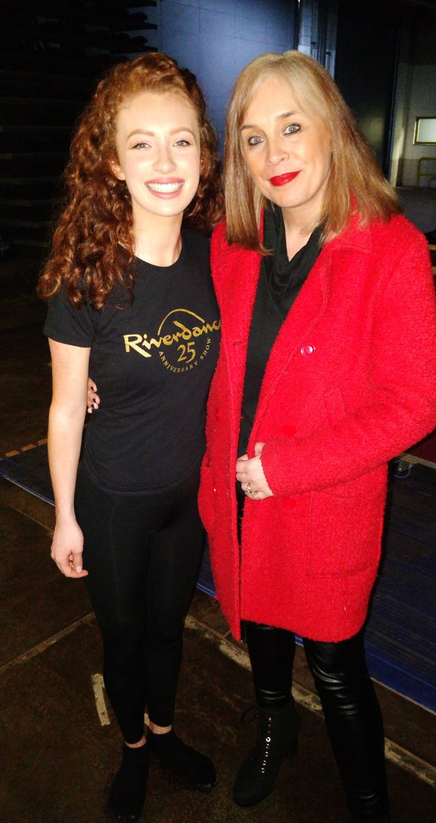 Had the pleasure of chatting to this lovely lady, Amy Mae Dolan, at Riverdance rehearsals for BBC Newsline. What a star, what a show! 25 years 👏🍾