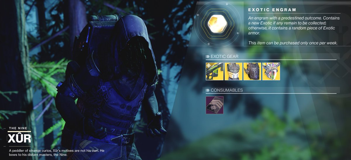 Xur is on Earth in the Winding Cove Guardians! #destinythegame #Destiny2 #destiny2shadowkeep #Destiny2SeasonOfDawnpic.twitter.com/n4sBmdakr3