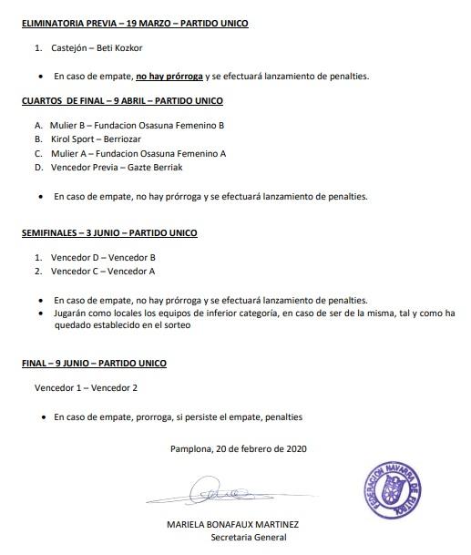 DESDE LA BANDA - FÚTBOL NAVARRO | COPA NAVARRA DE FÚTBOL FEMENINO