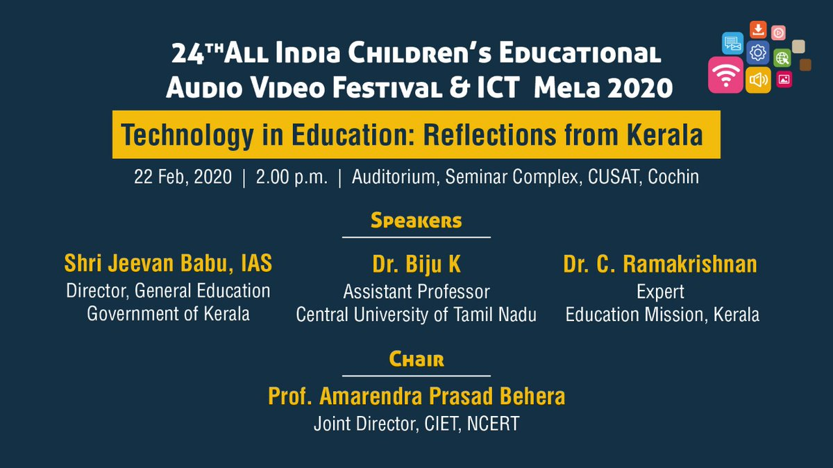 test Twitter Media - Pannel Discussion: Technology in Education: Reflections from Kerala by Shri Jeevan Babu, Director, General Education, Govt. of Kerala: Dr. Biju K, Assistant Professor, Central University of Tamilnadu & Dr. C Ramakrishnan, Expert, Education Mission, Kerala in 24th #AICEAVF https://t.co/7o0OwHnSrv