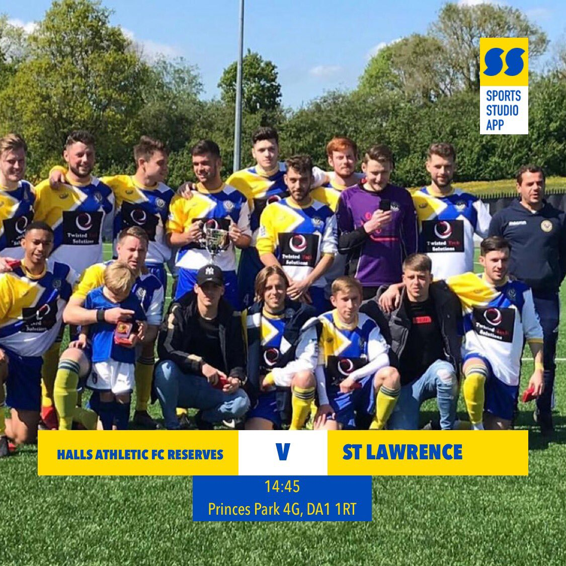 test Twitter Media - Reserves are back after a week off and host unbeaten top of the league  St Lawrence. Huge game and after a disappointing defeat early in the season the boys will be ready to make amends 💛💙💛💙 #HAFC #100thseason https://t.co/ZuiCccFYME