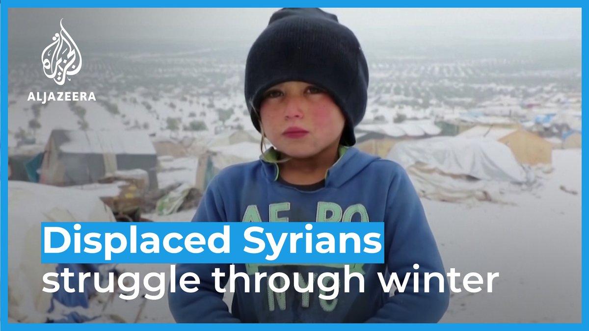Over 1 million Syrians have been displaced since December - half of them children.