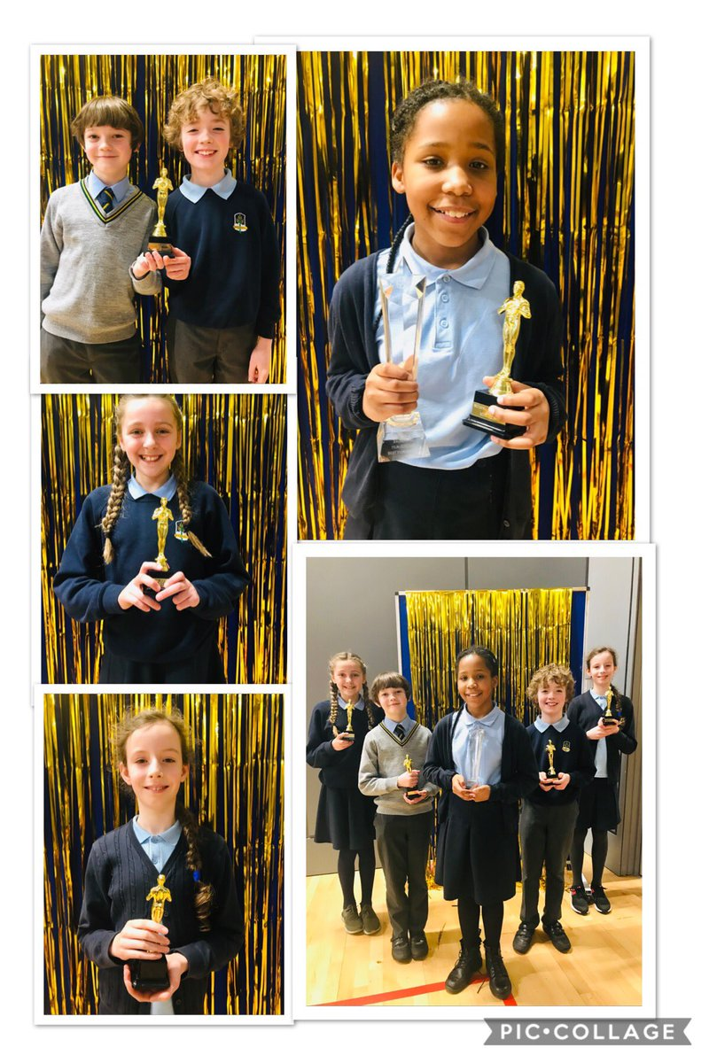 """RT BroomhillPSG """"Here they are .... the winners of our inaugural film festival- best performance by an actor/actress, best original soundtrack, best cinematography and best film. We are so proud of these creative youngsters for their moving, innovati… pic.twitter.com/xZPiBPxSsx"""""""