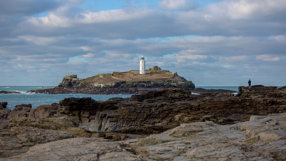 Today is #WorldThinkingDay. Where do you go to clear your head? The viewpoint of Godrevy Lighthouse is a favourite spot for some quiet contemplation   #Cornwall #Winter #Peace #Calm #Thinking
