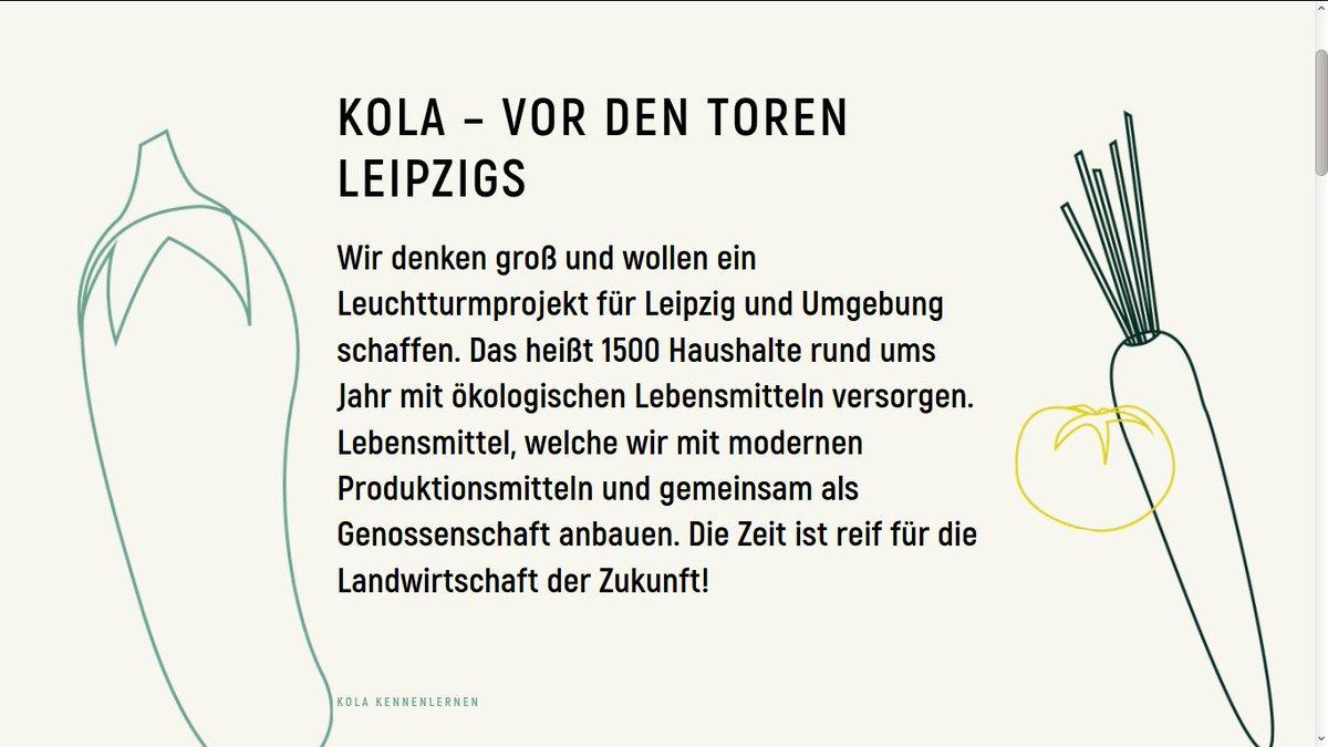 """Die #Solawi """"Kooperative Landwirtschaft Leipzig"""" @KolaLeipzig will als Leuchtturmprojekt 1500 Haushalte versorgen & ist gut am Start! Zuvor konventionell bewirtschaftete Flächen bei #Taucha sollen nun ökologisch bewirtschaftet werden: https://kolaleipzig.de/ #InternationalCSADaypic.twitter.com/IVgyKjW0fF"""