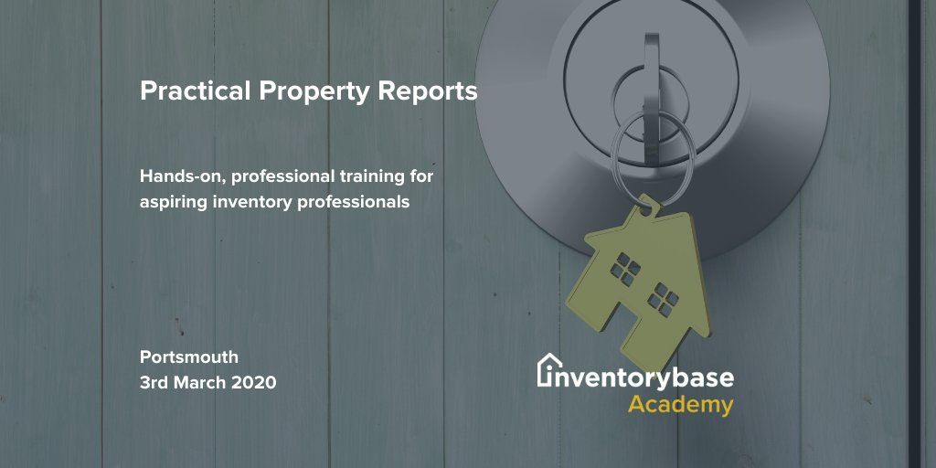 Secure your place on our CPD accredited training day this March! Book now: http://bit.ly/2HJ5k7o  #inventoryclerk #lettings #propertymanager pic.twitter.com/USqki6TaCx