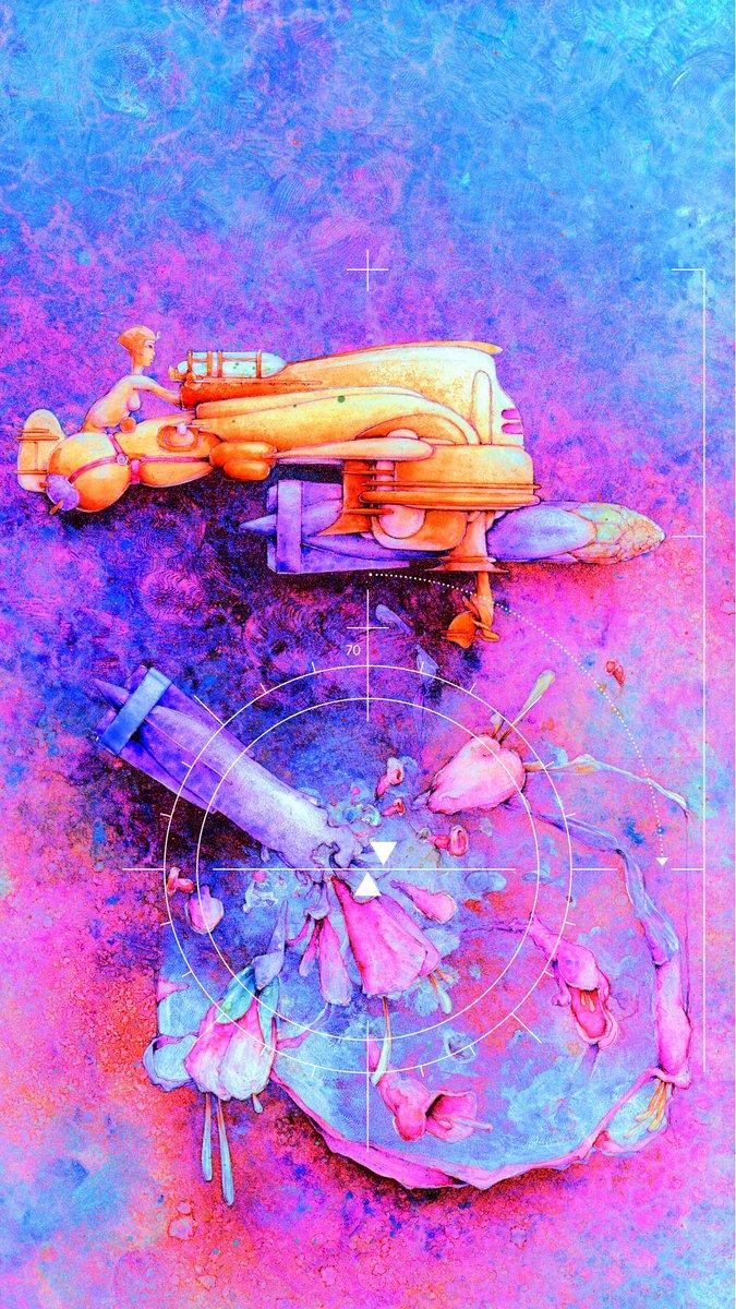 """""""Flower Bomber"""", work in progress... #art #digitalart #painting"""