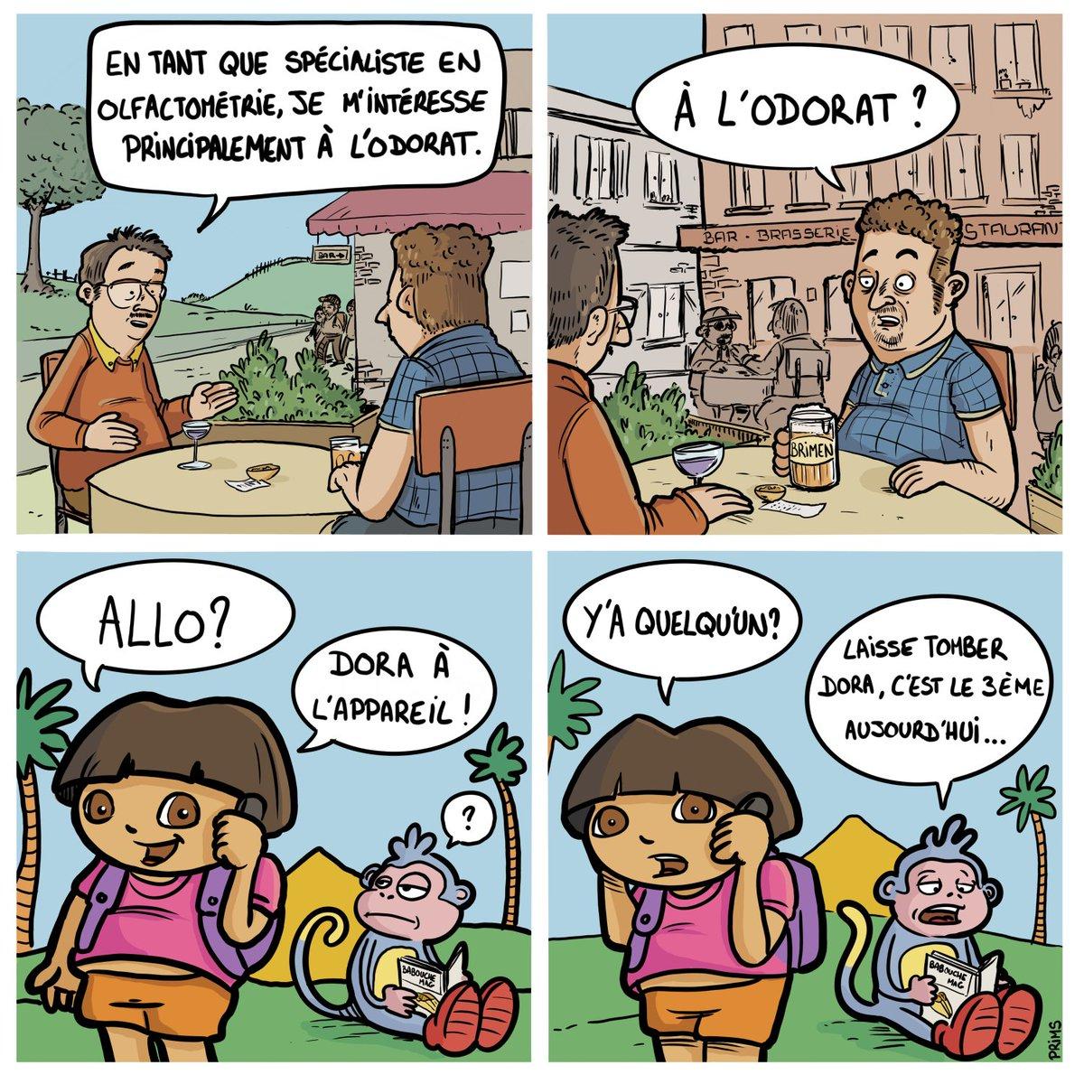 De plus en plus de gens s'intéressent à l'odorat. Et vous ? #bd #bede #bédé #bandedessinee #bandedessinée #absurde #humour #humourabsurde #comicstrip #webcomic #dora #allodora