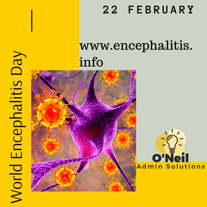 Today is World Encephalitis Day - Clink the link for information on this condition!  http://www.encephalitis.info http://www.oneiladminsolutions.com  #WorldEncephalitisDay #information #virtualassistant #smallbusiness #businessowner #BusinessWoman #SaturdayMorning #SaturdayThoughts #SaturdayMoodpic.twitter.com/kIdKVxCalA