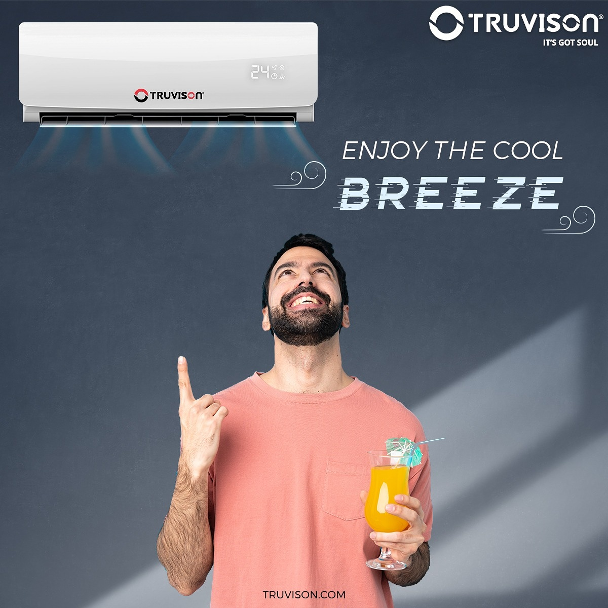 Feeling the early #summer #heat already? No #need to worry, #Truvison AC's with #powerful output and #energy efficiency are here to keep you #cool!  TYSD143N (1.0Ton- 3 star)    #TruPrice #Quality #Lifestyle #AC #AirConditioner #Value #Relax #EcoFriendly