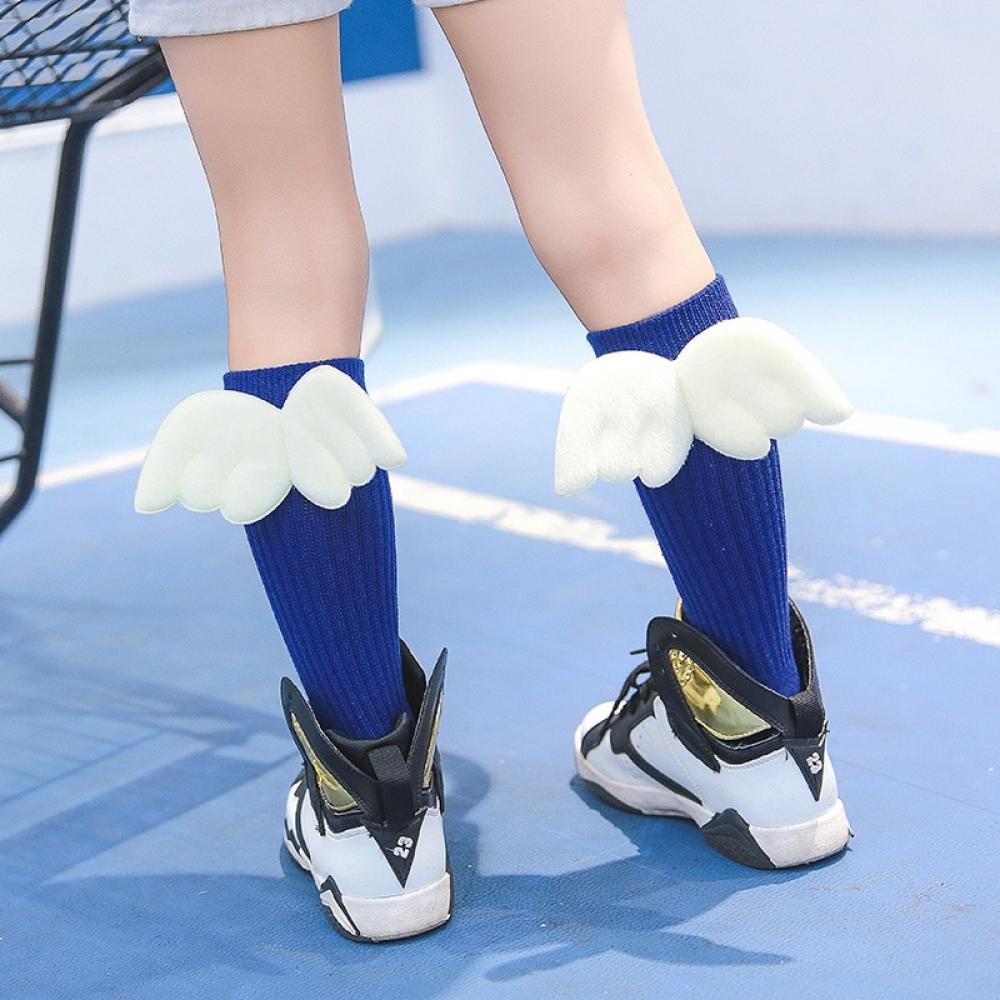 #cool #pink Girls' Cute Long Cotton Socks