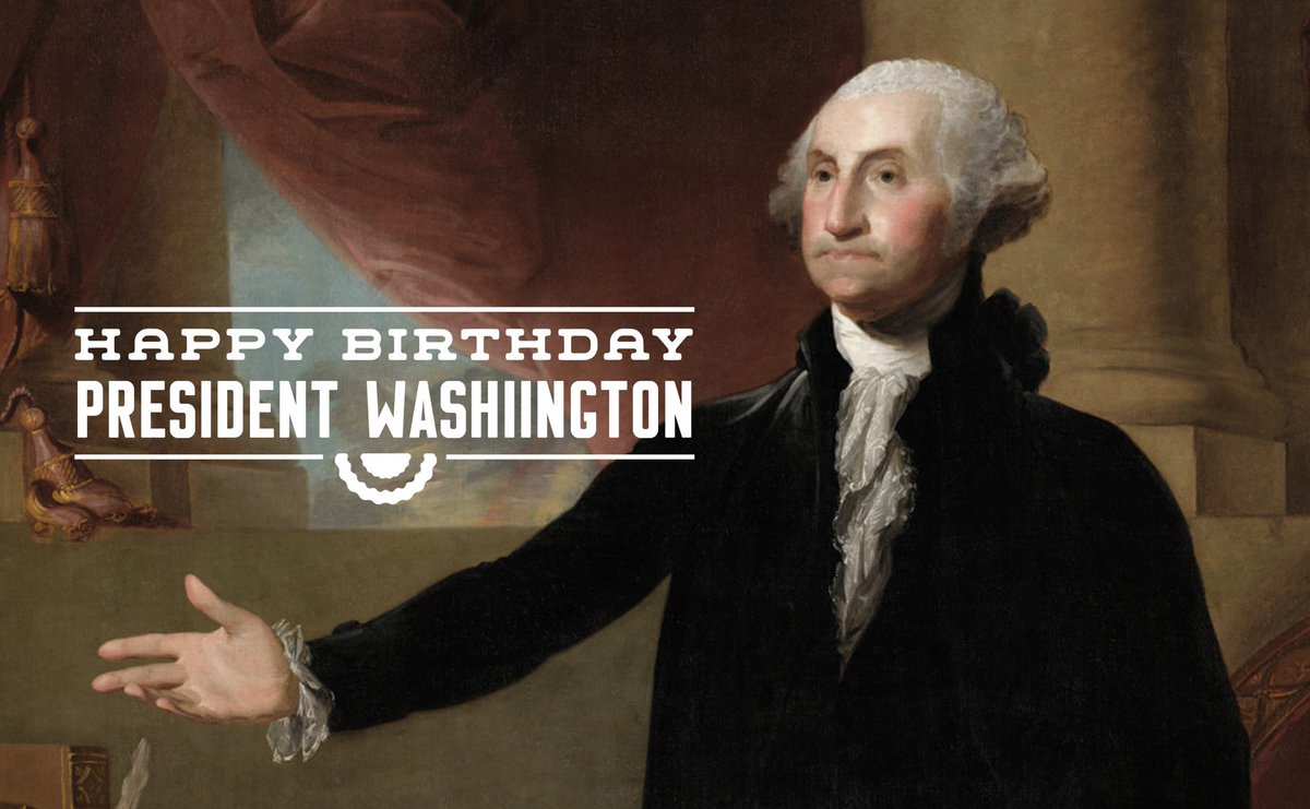 Happy birthday to our nation's first President, General George Washington! 🇺🇸