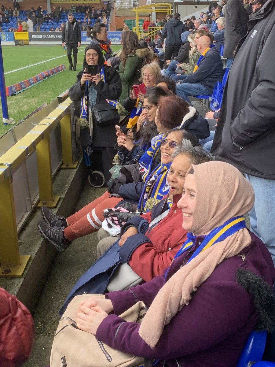 Great event here at #afcwimbledon  8 ladies attending their first ever football match  @womenatthegame @anukt @amirahr1980  #FansForDiversity <br>http://pic.twitter.com/3Aym6zf8nV