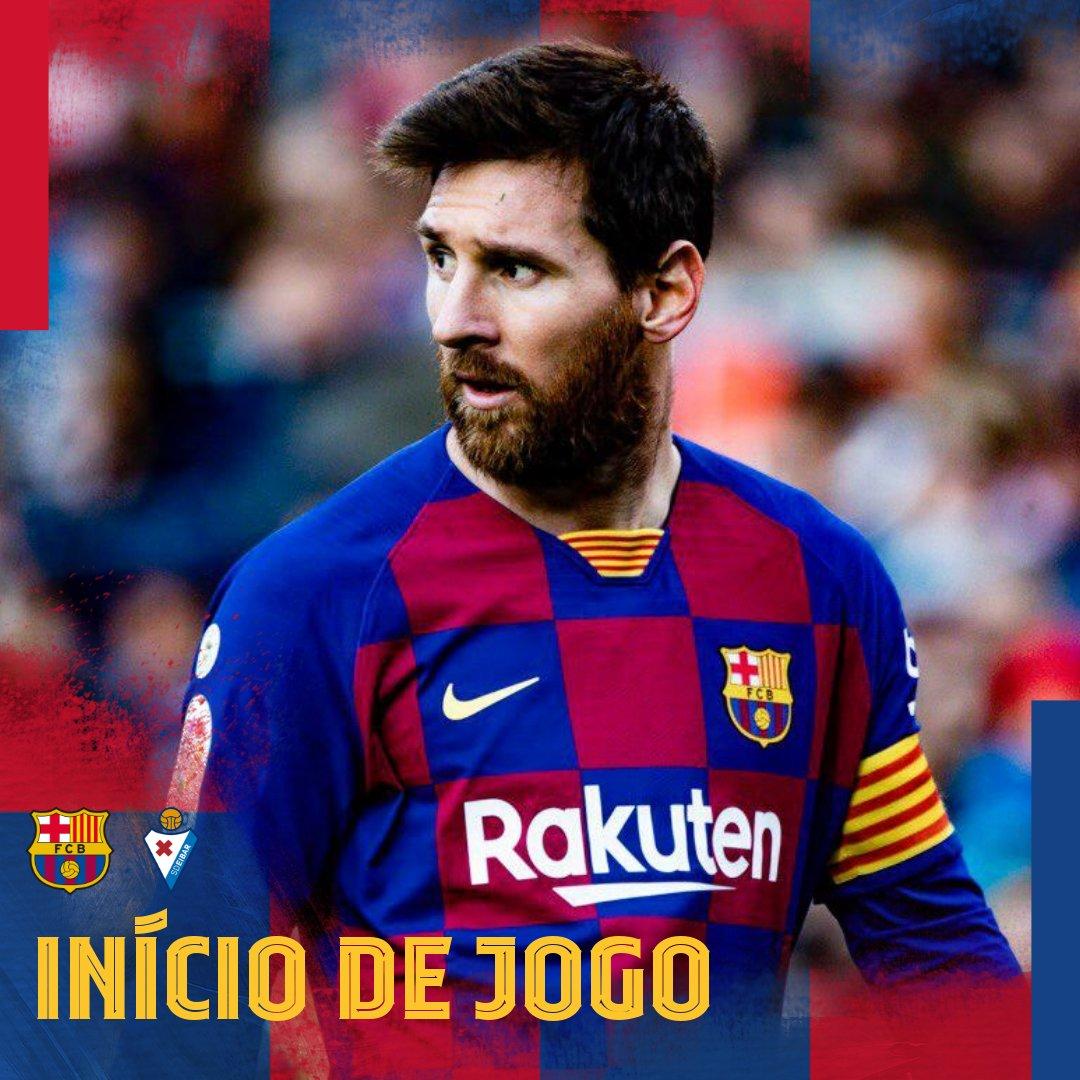🙌 Bola rolando no Camp Nou! 🏟 ⚽️ #BarçaEibar  🏆 @LaLigaBRA   👊 Vaaamos juntos, torcida!  🔵🔴