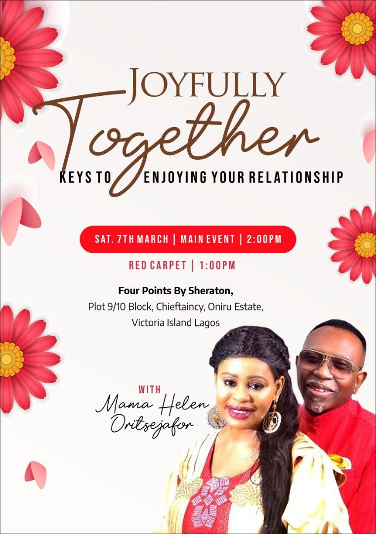 YOUR MARRIAGE MUST BECOME JOYFUL AFTER WHAT YOU WILL HEAR AT THIS EVENT!  Kindly join me at my book signing event to learn the best techniques to live joyfully together.  This event is FREE and is for both married and singles.  #JoyfullyTogether#LagosNigeria. pic.twitter.com/fZzcSt7AC3