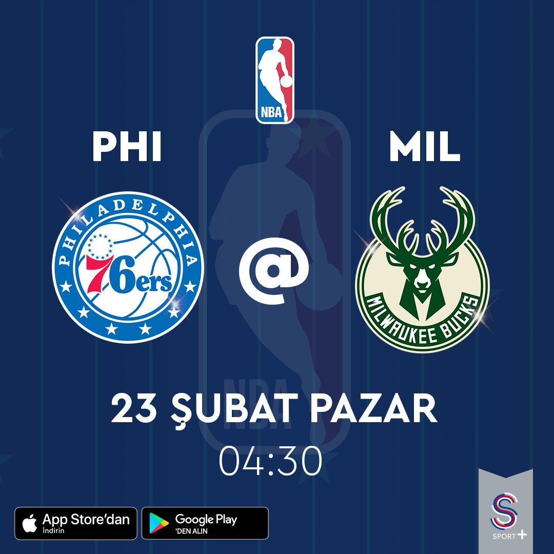 #FurkanKorkmaz'ın forma giydiği #Philadelphia76ers'ın, #ErsanIlyasova'nın takımı #MilwaukeeBucks'a konuk olacağı #NBA maçı, 23 Şubat 04:30'da canlı yayınla S Sport Plus'ta! http://www.ssportplus.compic.twitter.com/Sj7lF9X5Ig