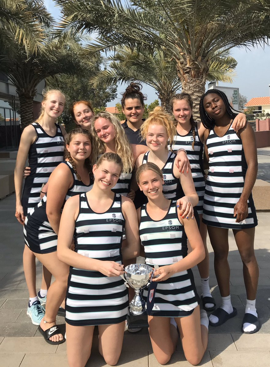 Last day & it started with the Dubai College International Tournament. All the Epsom girls were a credit to the school. U16A made it to the semi finals.  The U18's were unbeaten in the preliminary rounds and take home a cup.  Now to try & pack it!  #Winners #Dubai2020 pic.twitter.com/F3zY7BZ2rx