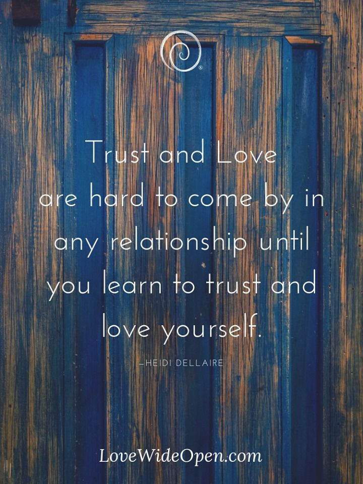 It's about the person's belief system.  We trust and love because we want to / or not.  People never get all the information, so a lot is always leap of faith / or not.   #FridayThoughts #InspirationalQuotes #WellnessThatWorks