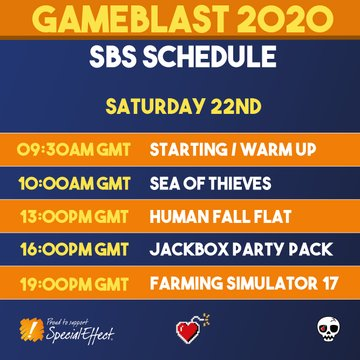 My timeline today will mainly be retweets of amazing people doing amazing things for @SpecialEffect as it's @GameBlast and I'M NOT EVEN SORRY!  Special Effect are incredible. The work they do is life changing. Go give them money and feel good about life.  http://Twitch.tv/ashtaric pic.twitter.com/KCtYmHcfrK