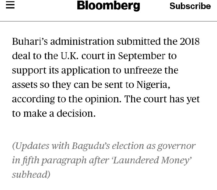 It is easier for wailers to blame President @MBuhari for the agreement made with Governor Bagudi with PDP/Obj than say it as it is. This is why reading only the headline is bad. <br>http://pic.twitter.com/tEUj1xXWCk