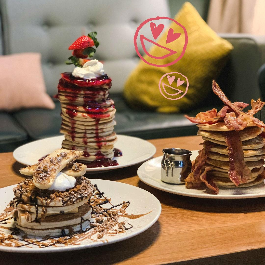 Check out these scrummy pancake stacks from BEAR 🥞 They even have vegan options starting from £8 🎉