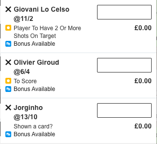 🔄 Lamela does not start but Giroud does! Here's the new same game multi...   £5 pays £276   #CHETOT https://twitter.com/TheSportsmanBet/status/1231158941851107329…