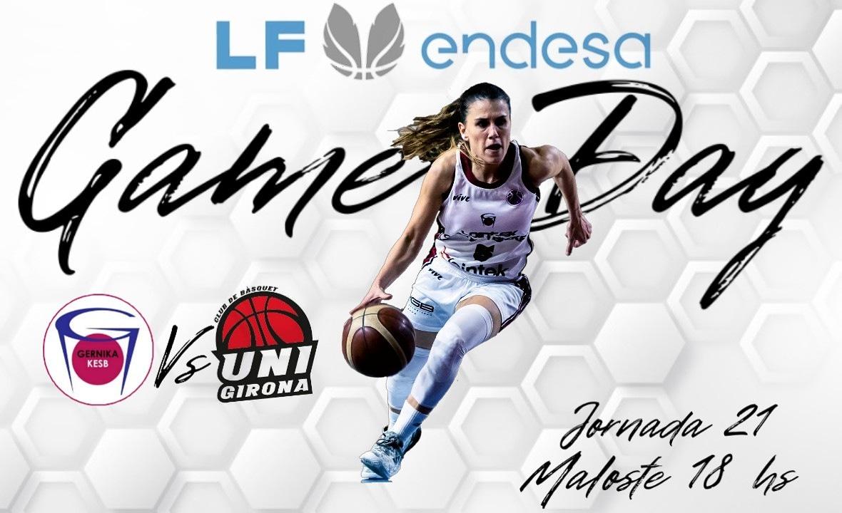Game Day🏀🏀🏀   🆚 @unigirona 🏟Maloste 🏆Liga Femenina Endesa ⌚ 18 hs Esp  Jornada 21 por el segundo Puesto #gabyocete #basketball #queen #live #Gernika #gernikabasket #ligafemeninaendesa