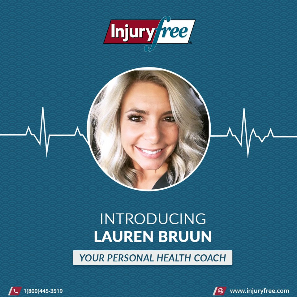 Lauren Bruun, BS Nutrition and Exercise Science  Lauren has experience in many areas of health and many types of diets. She is currently accepting new clients for Virtual health coaching.  Go to  & click on the Telehealth tab to learn more! #InjuryFree #fit