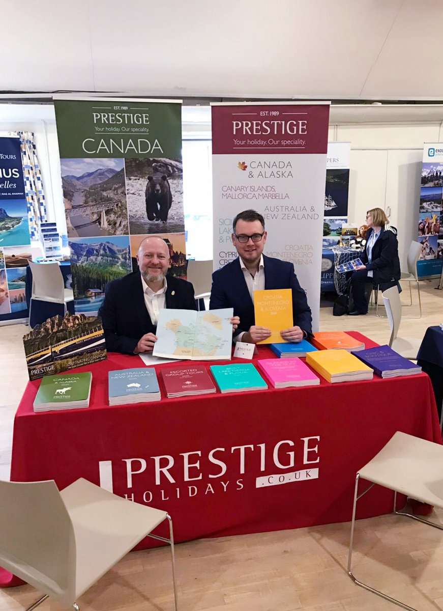 My first travel show as part of the @PrestigeHols team with @PrestigeJonno. #specialists #MenInBlue <br>http://pic.twitter.com/ahKslaMCVm