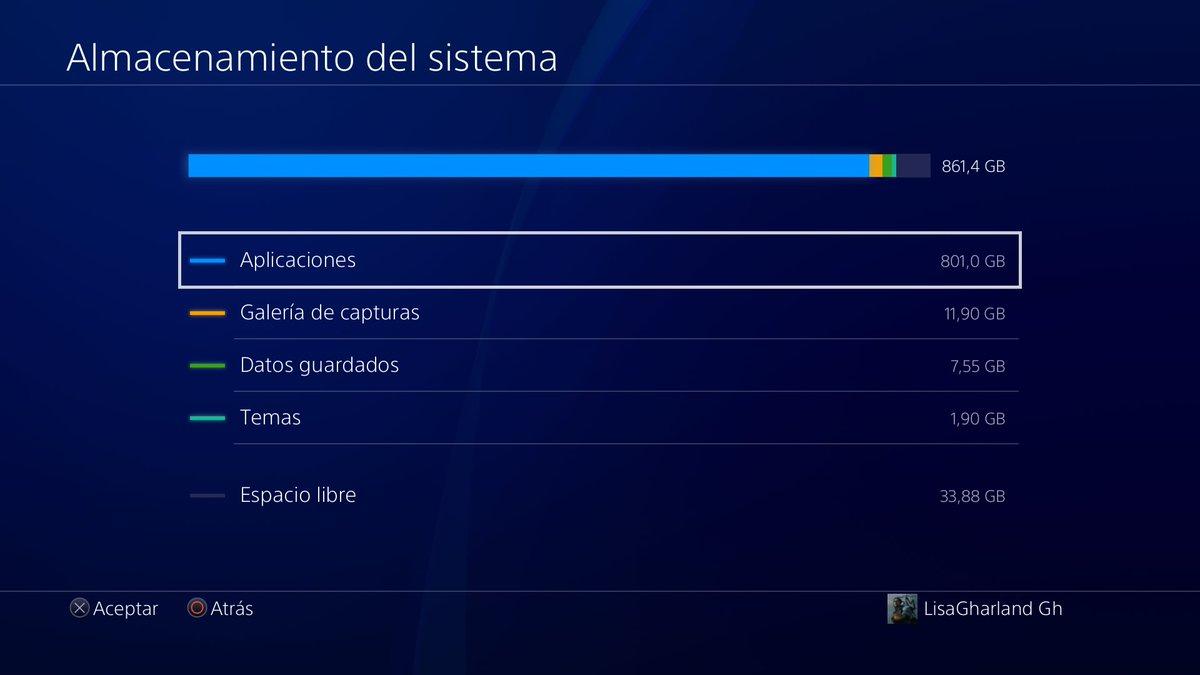 #Me quedo sin espacio en el disco duro #PS4share