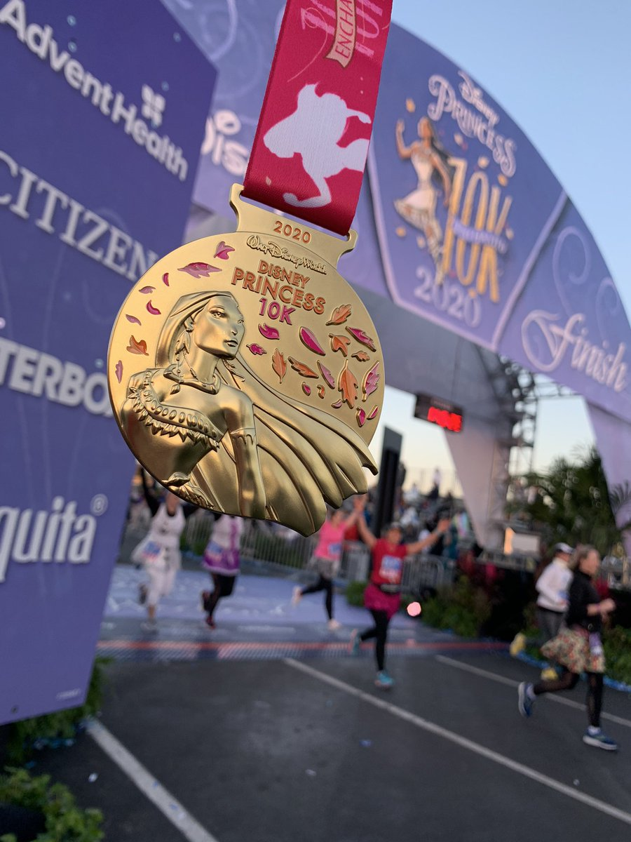 Way to run with all the colors of the wind during the 2020 Disney Princess 10K!  Congratulations to all finishers! #runDisneyLIVE<br>http://pic.twitter.com/w4LjS2z9TX