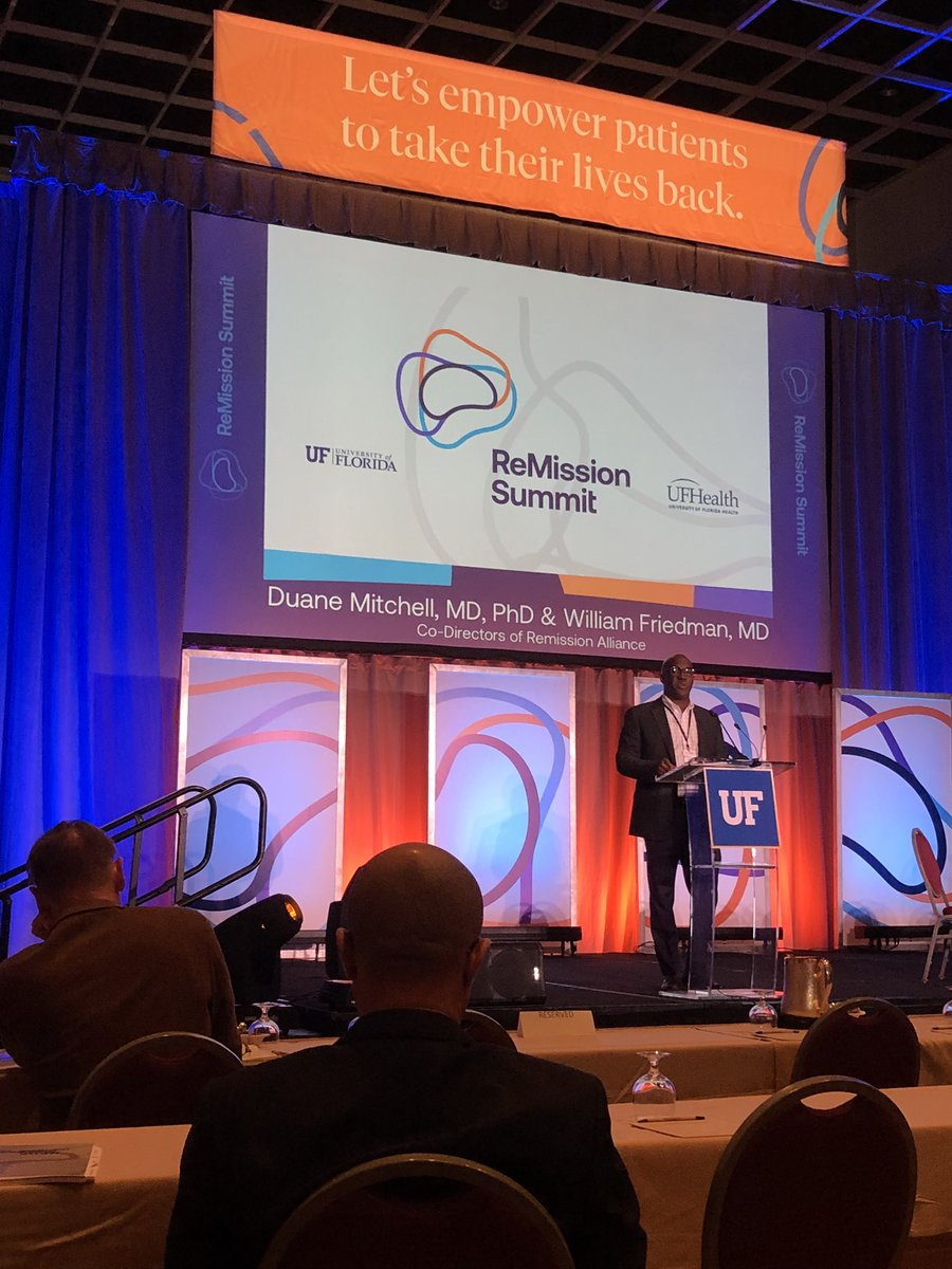 Excited to be here this weekend for the ReMission Summit to tackle brain cancer! @UFHealthCancer @uf @UFMBI @ReMissionSummitpic.twitter.com/kxAikfUNU0