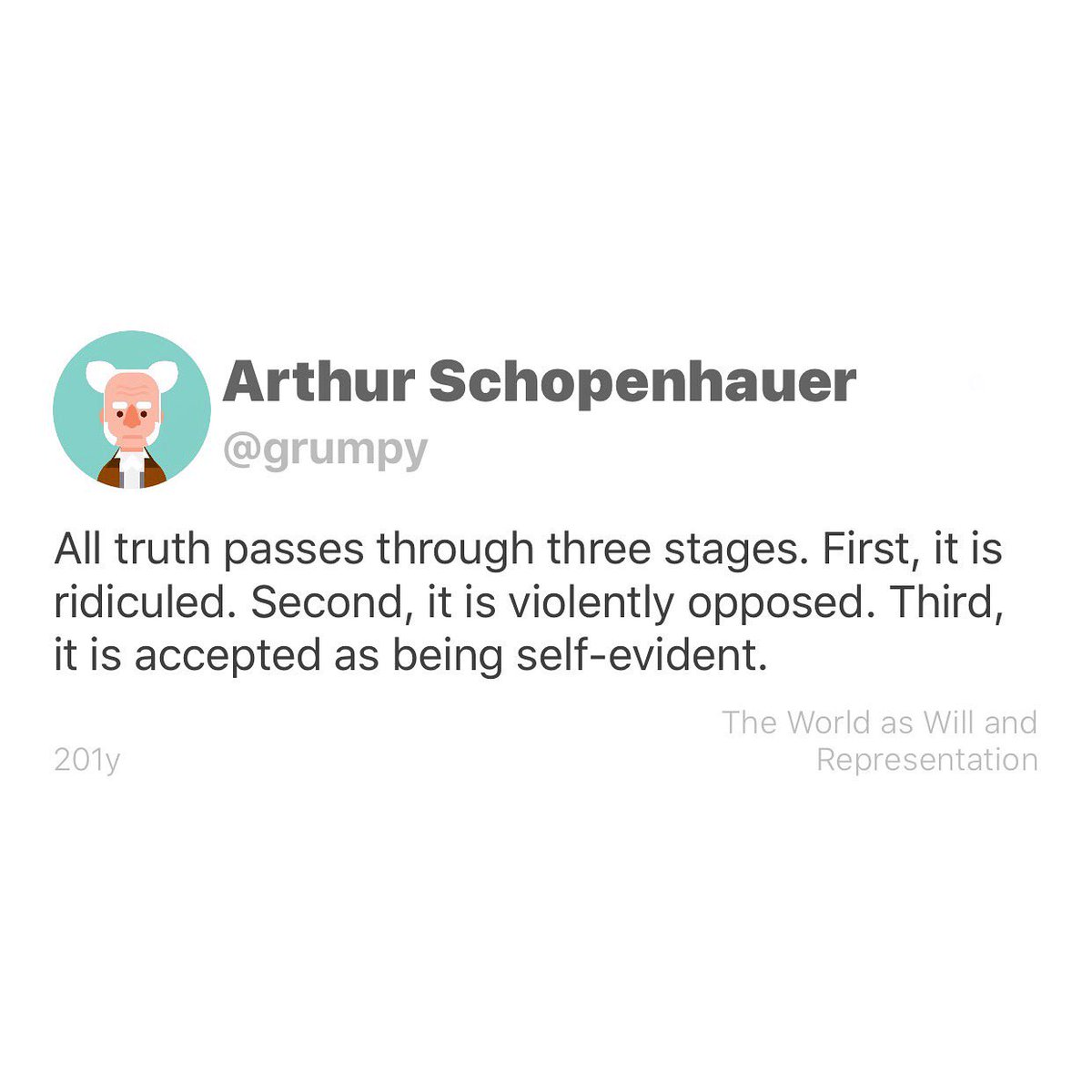 Happy birthday to German philosopher, known for his philosophical pessimism, Arthur Schopenhauer, born this day, 1788, in Danzig, Poland.  #philosophy #philosophyquotes #arthurschopenhauerpic.twitter.com/QqoSyXhF2U
