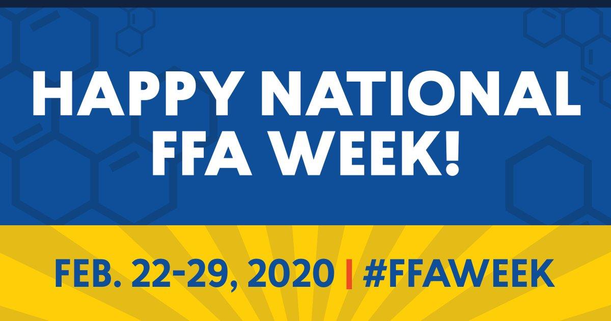 Happy National FFA week! Monticello FFA members will be celebrating all week! https://t.co/iPMazgbLsQ