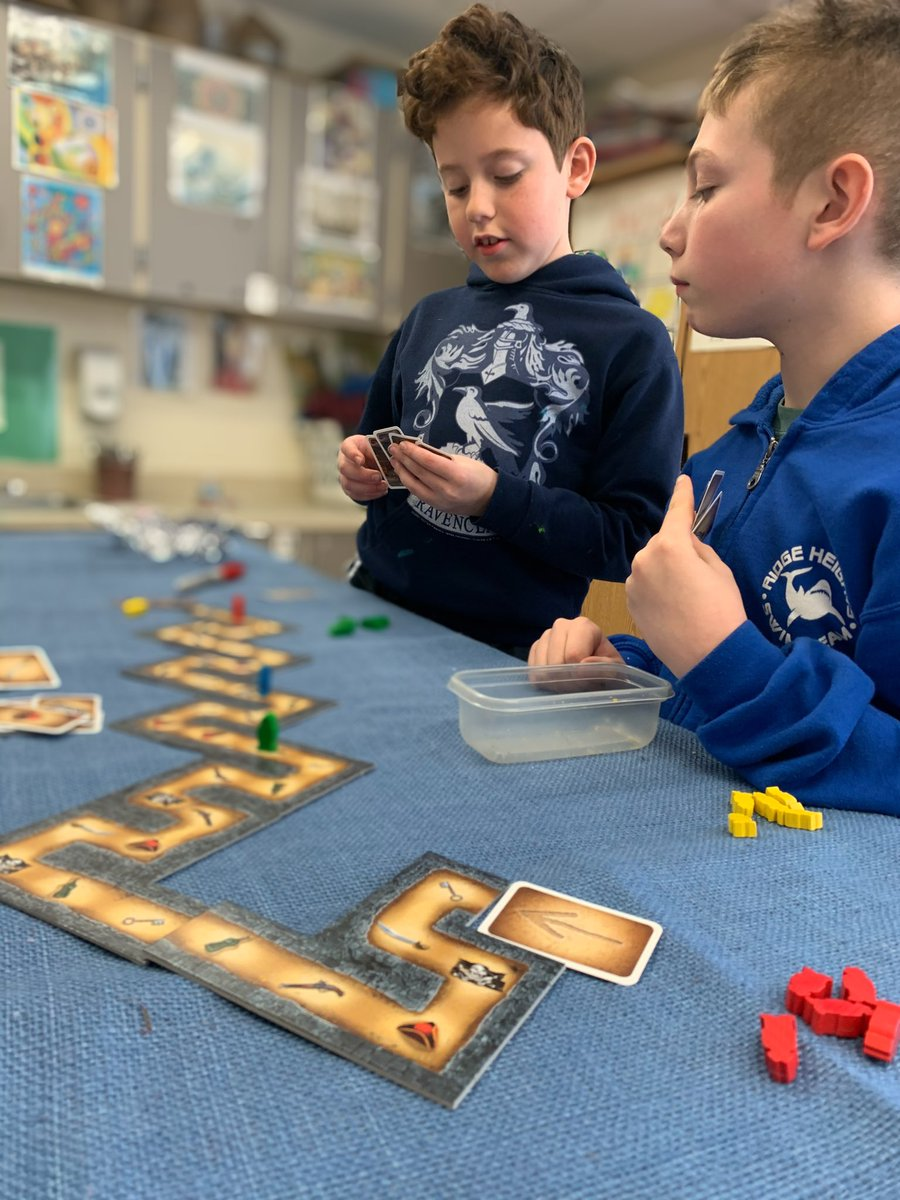 Fourth graders playing Cartagena at lunch. @LakeAnneES #dolphinpride #boardgames #kidsgames #gamesinschool #fourthgrade #4thgrade #tabletopgames #boardgamesofinstagram pic.twitter.com/JhOTUzc8IW