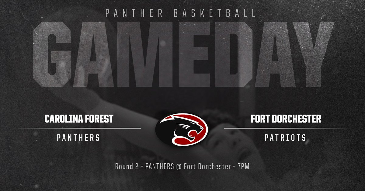 The Panthers Boys Basketball team heads to Fort Dorchester tonight for a 7pm tip off in the 2nd Round of the SCHSL 5A playoffs. GO PANTHERS! <br>http://pic.twitter.com/1hncKUxp9K