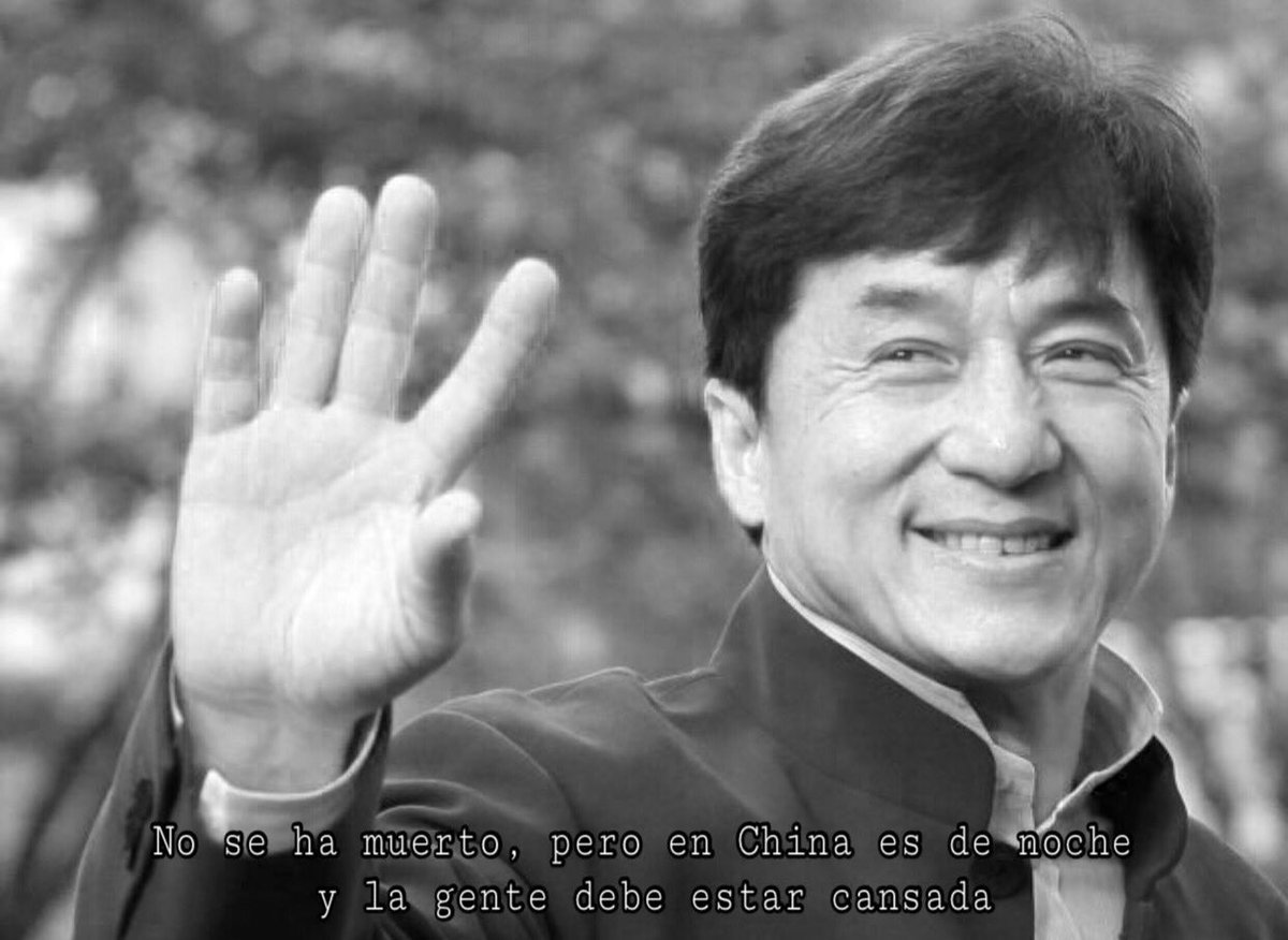 Replying to @iExplorerLOL: Descanse en paz Jackie Chan.