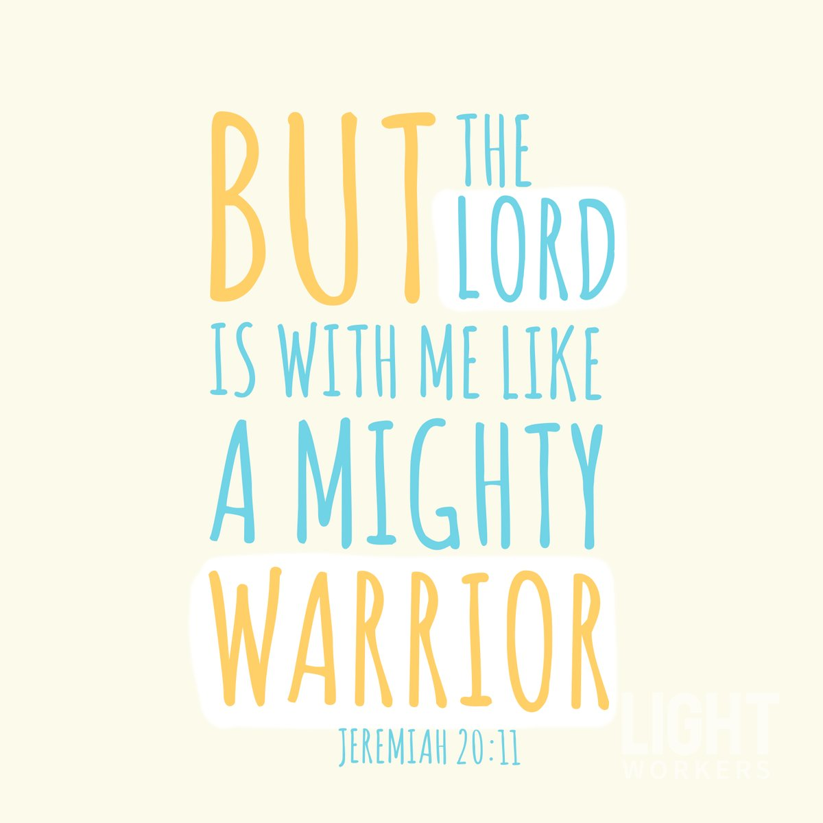 'Be strong and courageous!' (Deuteronomy 31:6) 💛