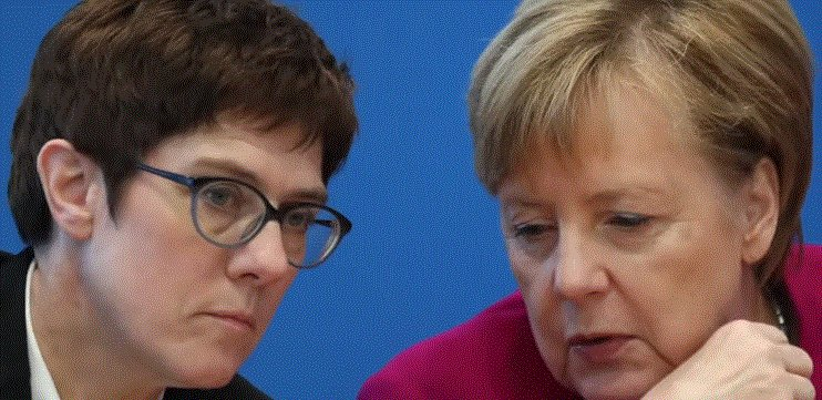 Alemania enfrenta crisis de sucesión luego de que renuncia la selección de Merkel La canciller alemana, Angela Merkel, está tratando de preparar a una sucesora mientras se prepara para renunciar el próximo año, pero su elección, Annegret Kramp-Karrenbauer, está renunciando pic.twitter.com/OVyinn6kS5