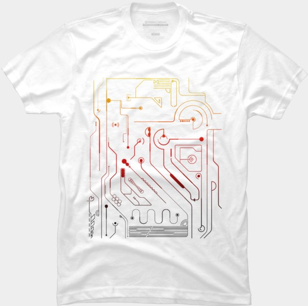 ModernIC @designbyhumans by @Boby_Berto  #electronic #abstract #fire #colors #cool #tshirt #modern #line #electro #tshirt #clothing #apparel