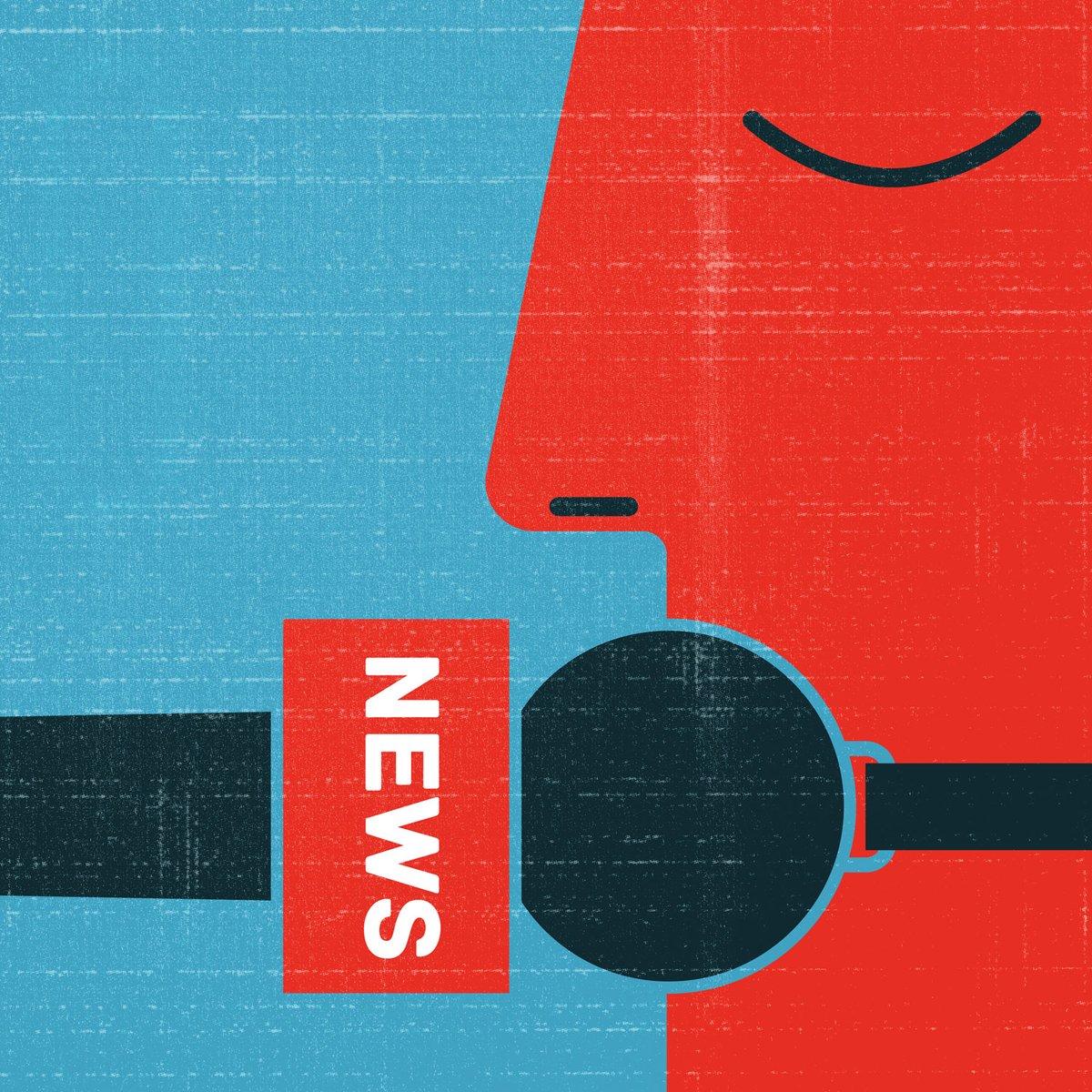 My new illustration. Fake news. #conceptual #illustration #editorial #FakeNews #illustrator #freelancer