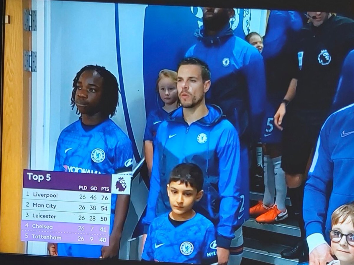 Starts for Chelsea today. #Chelsea #NairaMarley pic.twitter.com/D3T9gIX7Ie