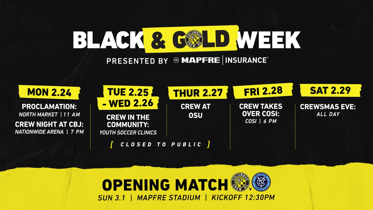 The fun begins tomorrow at @NorthMarket. See you there! #Crew96 x @MAPFREIns