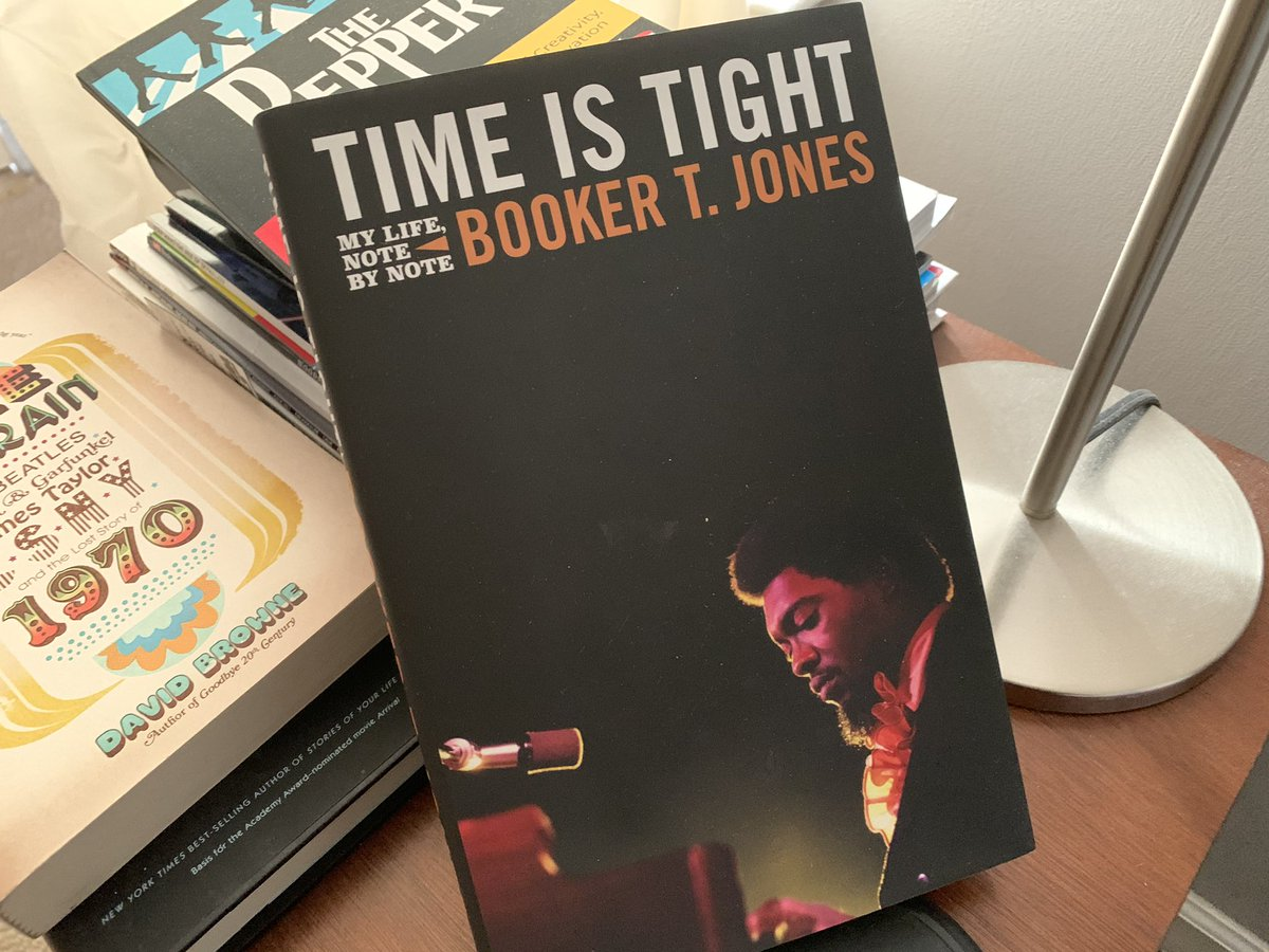 An inspiring read and I am still smiling from meeting one of my musical heroes. @BookerTJones #TimeIsTight
