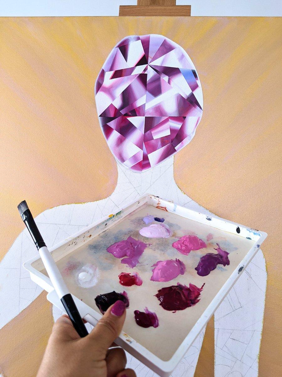 We are DIAMONDS! That's my concept for the 'LIT' painting. . #LIT1DiamondPainting . #ReenaAhluwalia #lit #Diamonds #PurpleDiamond #FancyColorDiamonds  #PurpleandGold #DiamondArt  #Painting #paintingprocess #JewelryDesigner #Goldsmithpic.twitter.com/Ol0mW8i3kq