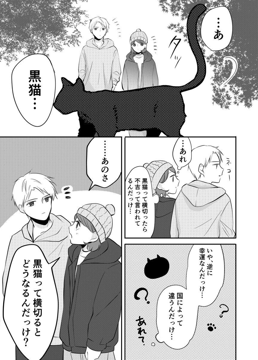 【創作】黒猫が横切るとギリギリ猫の日