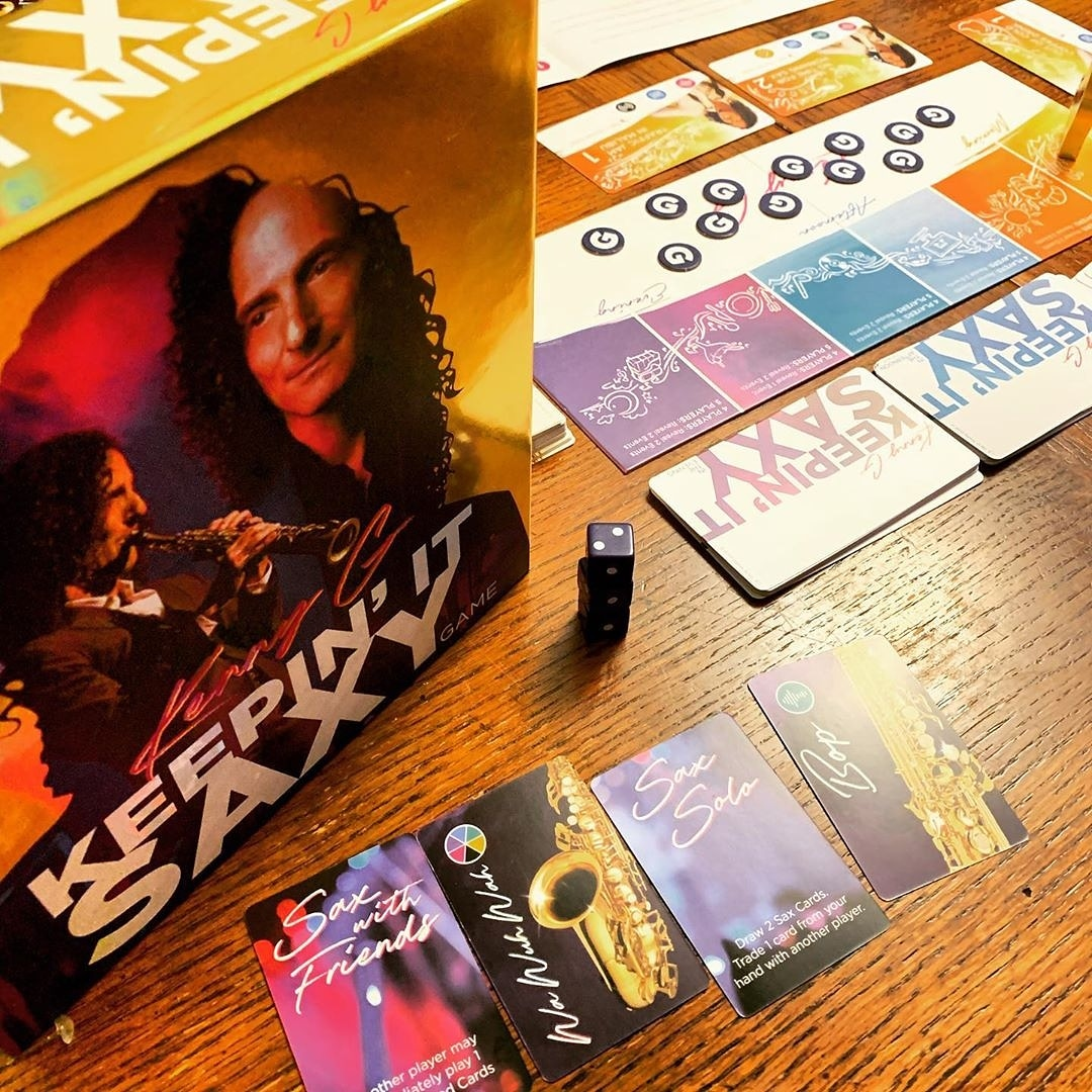 "What a fun birthday gift!! Hope you had a great birthday @jeremywleslie! ""Omg a Kenny G game!  What a great birthday gift.""  #kennyg #kennygkeepinitsaxy #keepinitsaxy #bgg #isitanygood #staytuned #boardgamesofinstagram #boardgames #boardgamegeek  #BigGCreativepic.twitter.com/aNvI4OWMOZ"