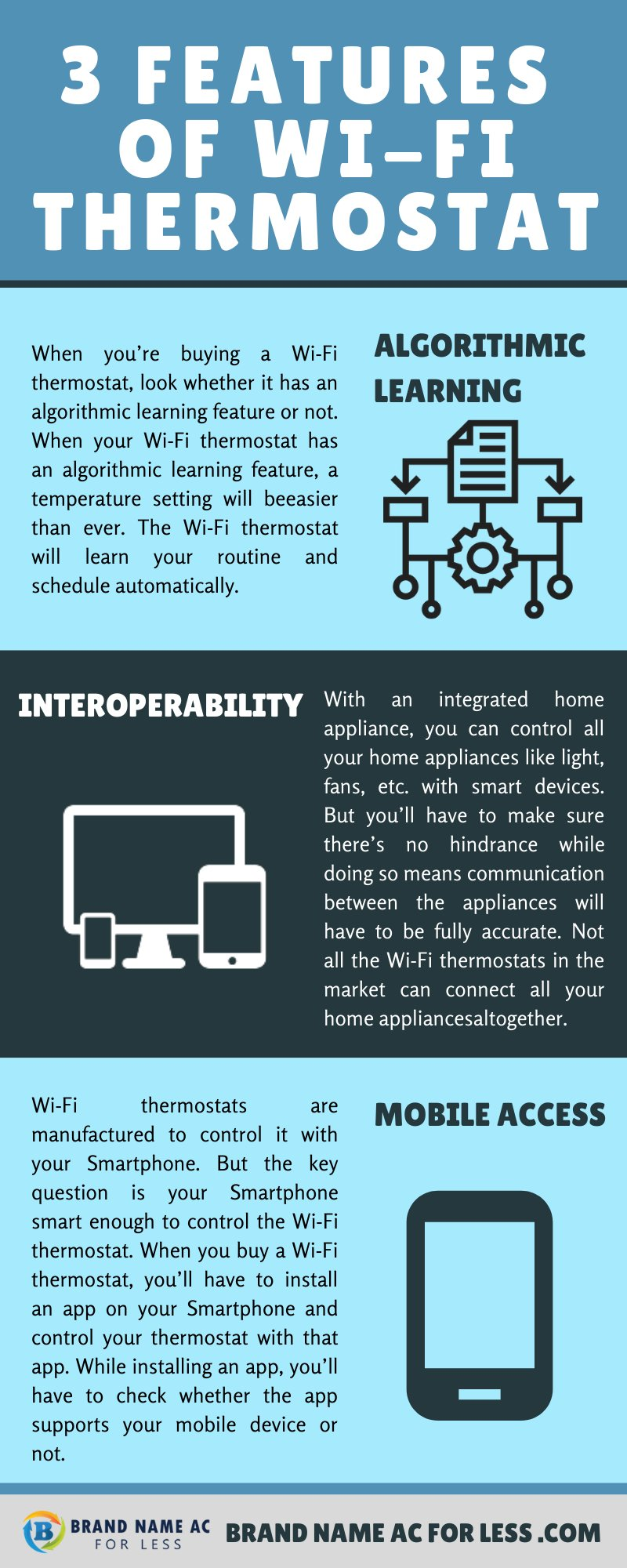 3 Features of WiFi Thermostat